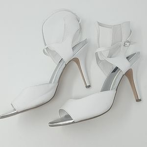 WHBM | White Strapy Heels Shoes Size 8.5
